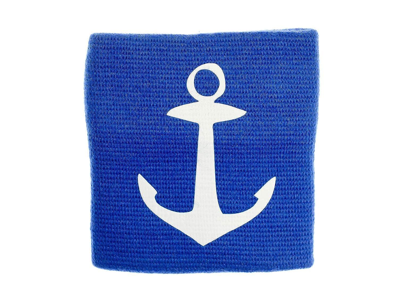 Miniblings Schwei/ßband mit Rei/ßverschluss Geldb/örse Maritim Meer See Anker blau