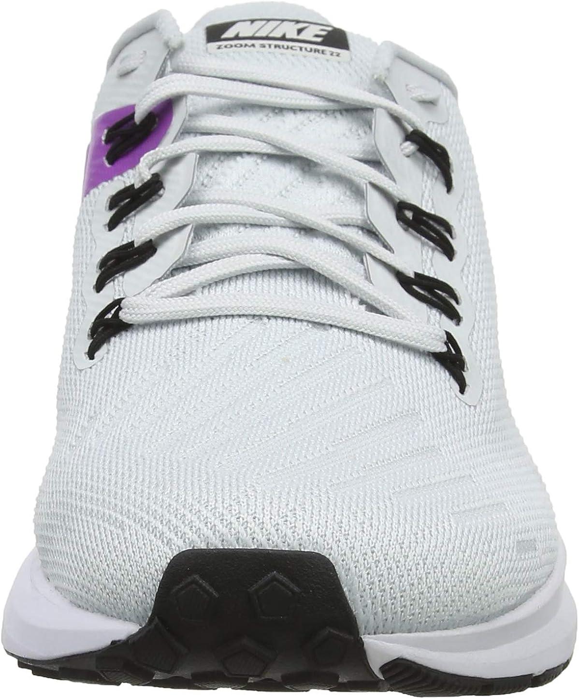 Nike Herren Air Zoom Structure 22 Laufschuhe Grau Pure Platinum Black Hyper Violet White 009