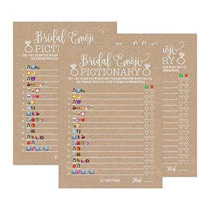 25 rustic emoji pictionary bridal shower games ideas wedding shower bachelorette or engagement party