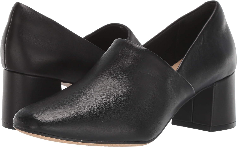 Clarks Women\'s Sheer Lily Pump, Black Leather 71i6IJ2BUGPL