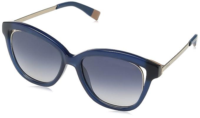 77c2a1cdc27e Furla Eyewear Women's SFU046 Sunglasses, Shiny Blue/Petroleum, One ...