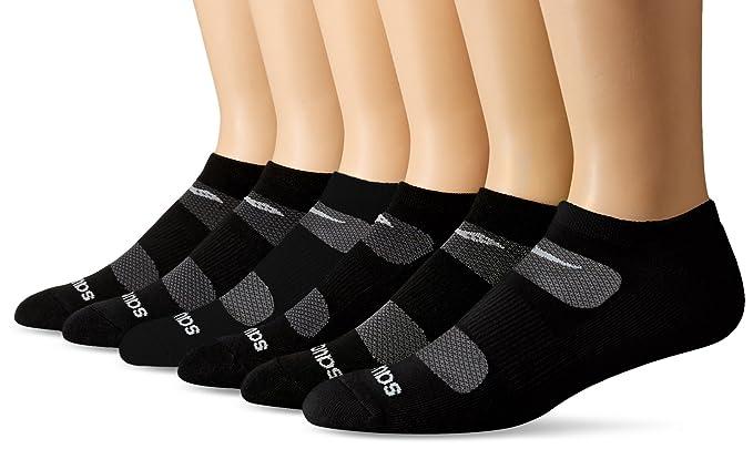 07e242ac Saucony Men's 6 Pack Performance Comfort Fit No-Show, Black Basic ...