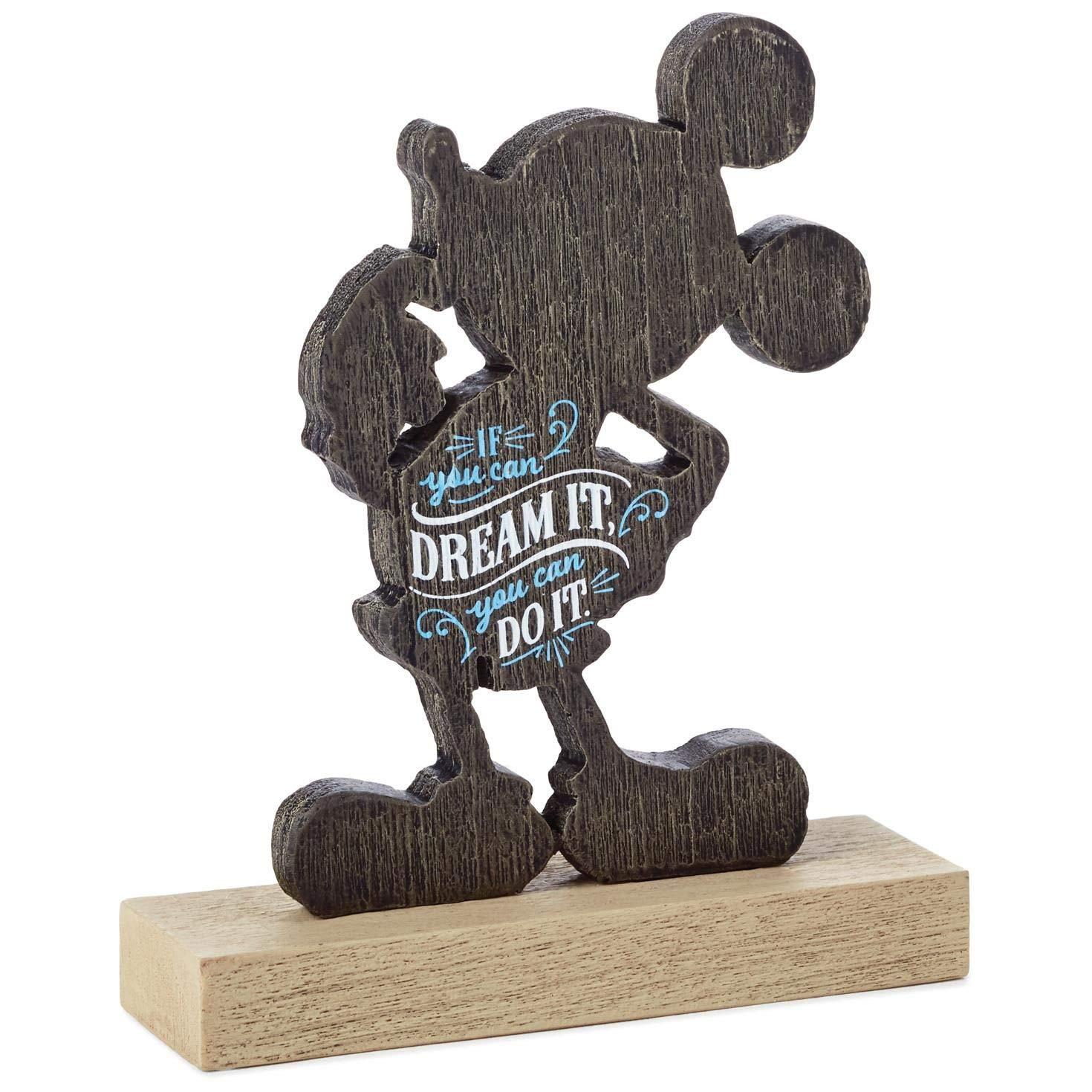 Hallmark Mickey Mouse Dream It Quote Figurine Plaques & Signs Milestones