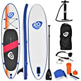 """Goplus Inflatable Stand Up Paddle Board 10/11ft SUP 6"""" Thick Non-Slip Deck with with Free Premium SUP Accessories, Backpack, Adjustable Paddle, Hand Pump, Leash and Waterproof Bag, for Youth & Adult"""