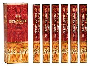Box of Six 20 Gram Tubes Egyptian Musk HEM Incense