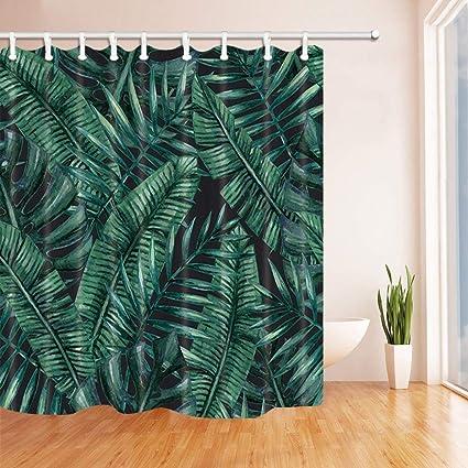 Amazon CdHBH Tropical Decor Palm And Banana Tree Leaves Shower
