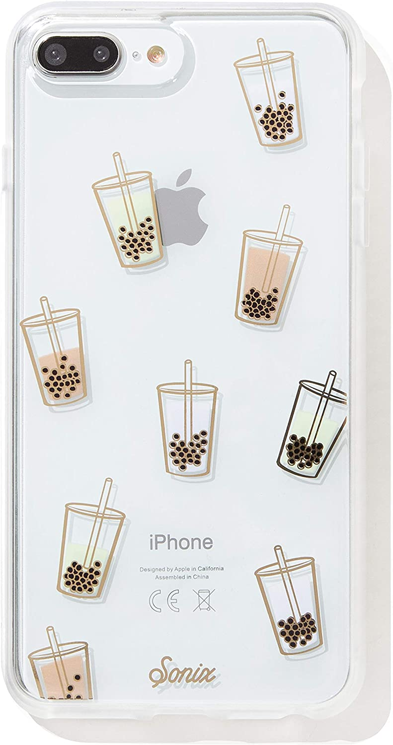 Sonix Phone Case, Boba (Bubble Tea) [Military Drop Test Certified] Protective Clear Case for Apple iPhone 6 Plus, iPhone 7 Plus, iPhone 8 Plus