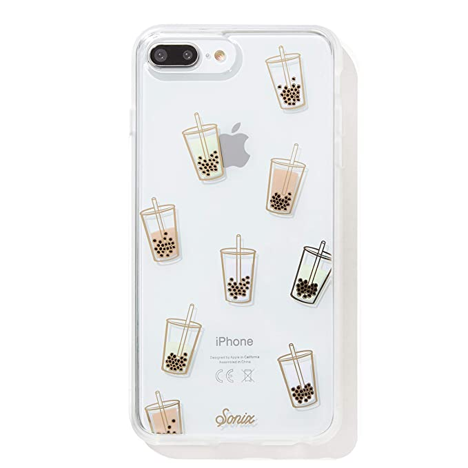 new styles 44744 6a914 Sonix Phone Case, Boba (Bubble Tea) [Military Drop Test Certified]  Protective Clear Case for Apple iPhone 6 Plus, iPhone 7 Plus, iPhone 8 Plus