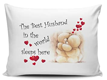 The Best Husband In The World Sleeps Here Pillow Cases Cute Bears