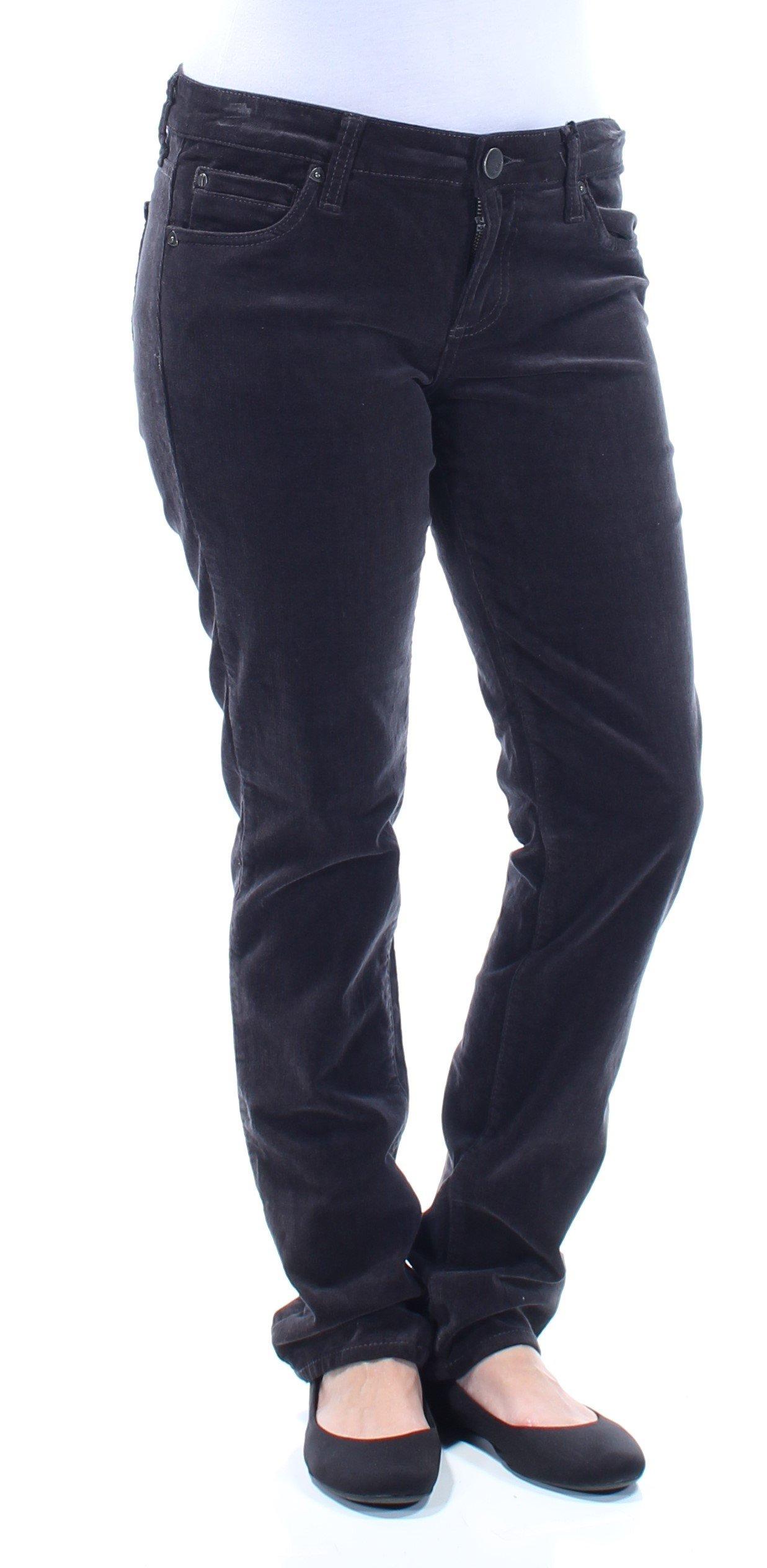 Kut From The Kloth Womens Boyfriend Corduroy Corduroy Pants Black 4