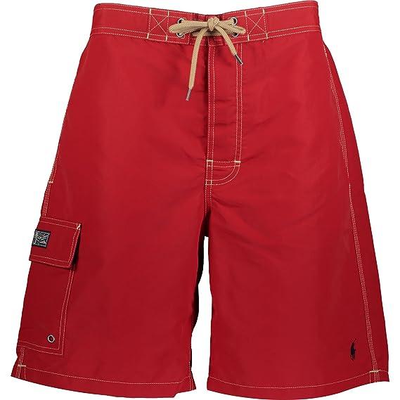 a278634d34212 Ralph Lauren Polo Swim Shorts (Red, Medium): Amazon.co.uk: Clothing