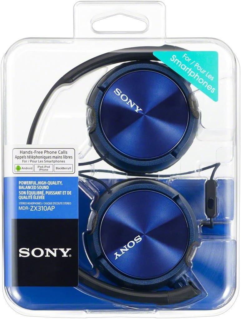 Sony Mdr Zx310ap Kopfhörer Blau Elektronik