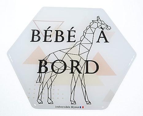 garantie 10 ans b/éb/é /à bord Made in France imprim/és Etoiles livraison 72H autocollant//stickers//Adh/ésif pour voiture R/ésine naturelle