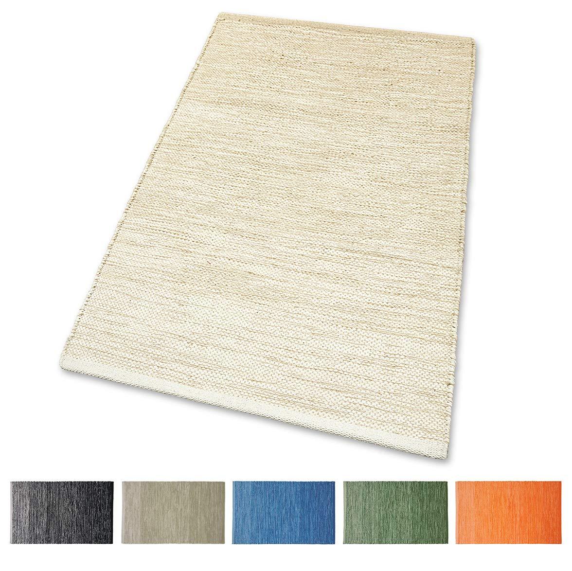 Tappeto Cotone Lavabile Wave Bagno Cucina Antiscivolo 50x80 60x120 Cinigliato Vari colori Lavabile in Lavatrice 30/° Beige, 60 x 120 cm