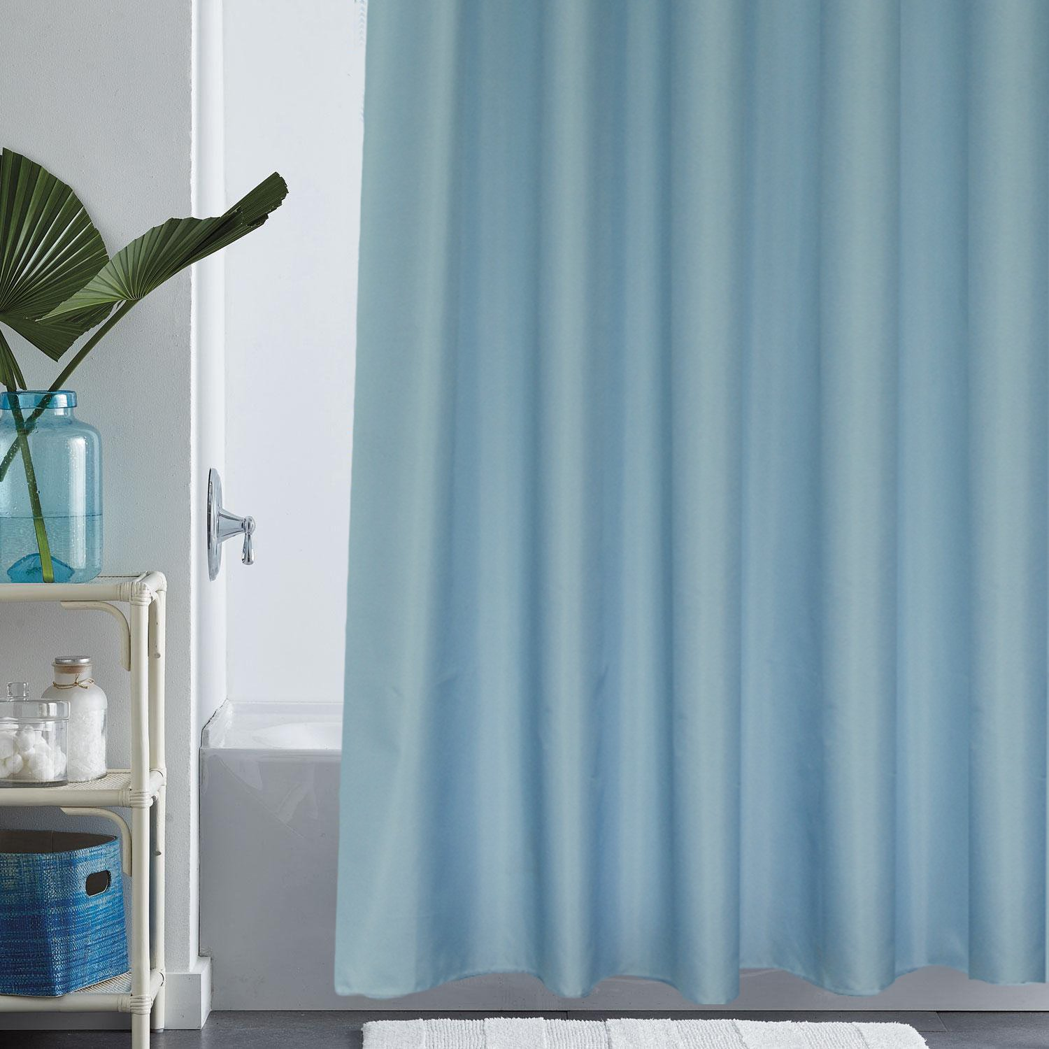Amazon.com: Eforgift Solid Blue Shower Curtain Liner Water Repellent ...