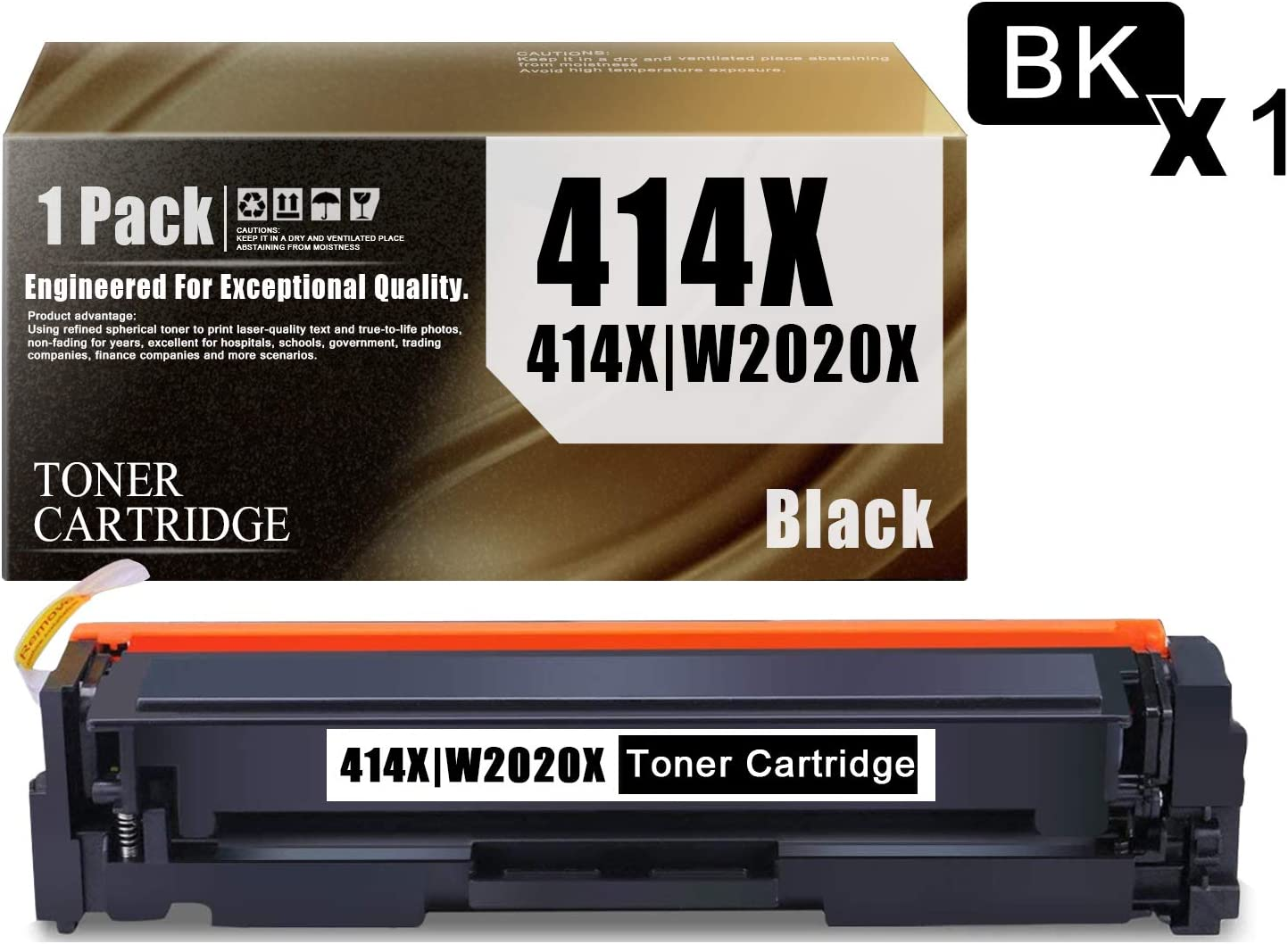 414X   W2020X Quality Compatible Toner Cartridge 1-Pack Black Replacement for HP Color Laser Jet Pro MFP M479fnw M479fdn M479fdw M479fnw M479fdn M479fdw Printers