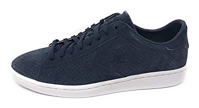edc8683a7833 Converse PL LP OX Navy Perforated Suede White (6 B US)