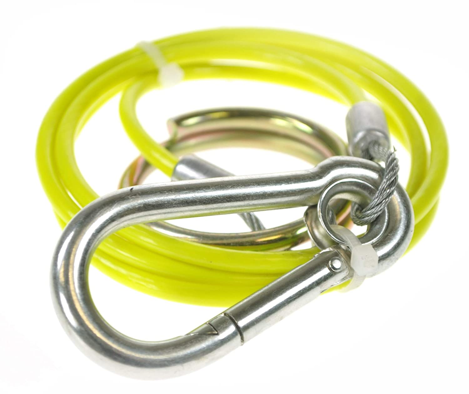 BITS4REASONS NEW MODEL MAYPOLE MP5015B BREAKAWAY CABLE PVC HI VIS YELLOW 1M x 3MM SAFETY TRAILER CARAVAN CABLE