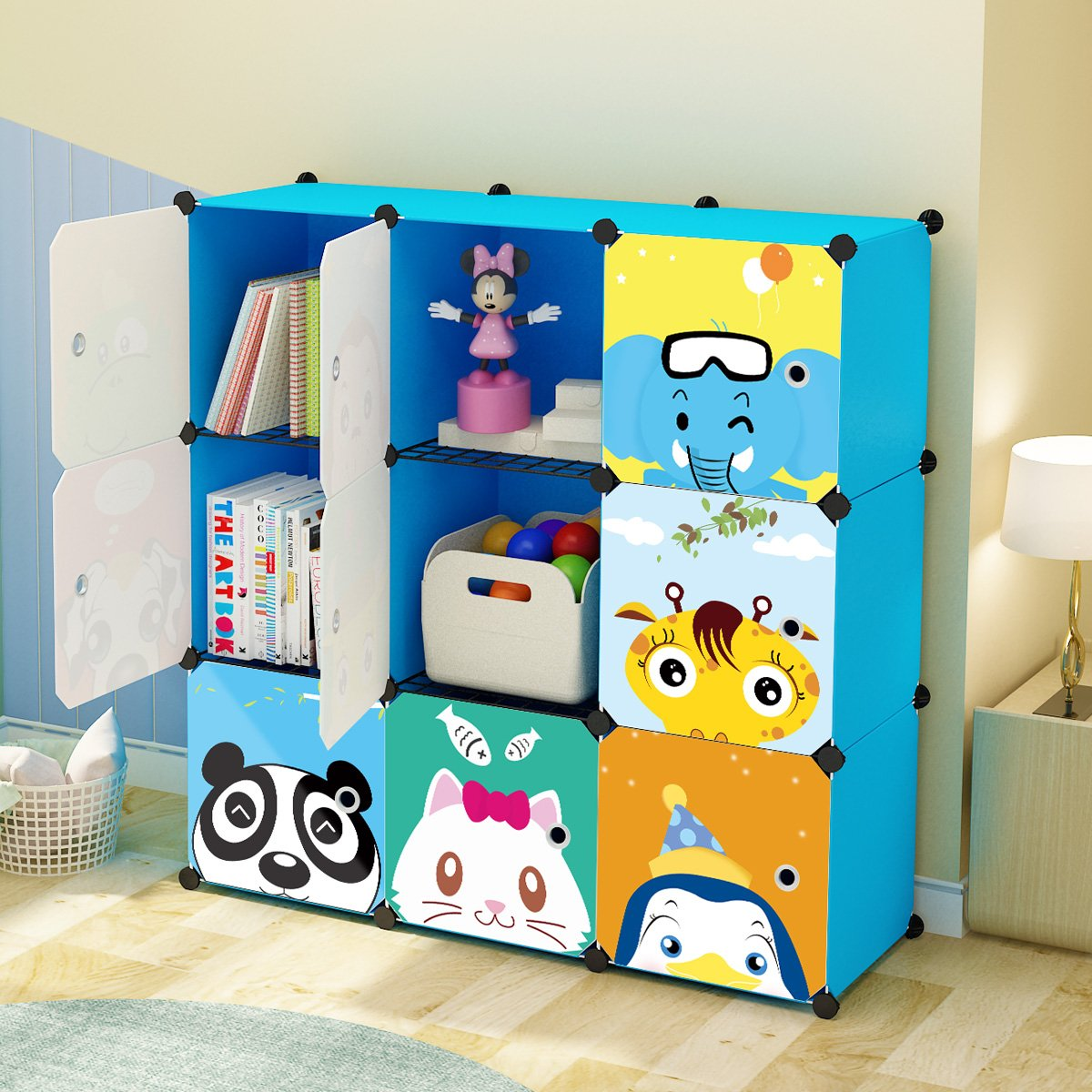 KOUSI Portable Kids Bookshelf ...