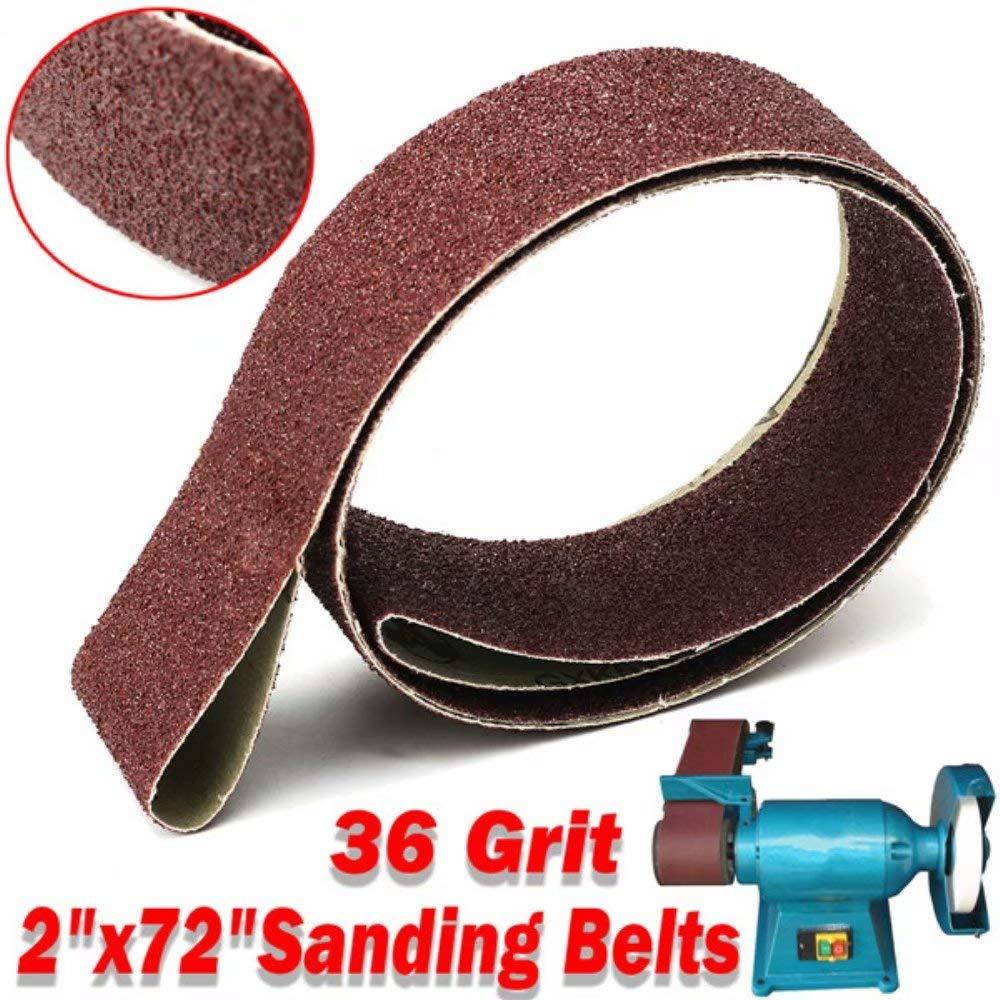 Lifreer 2x72 Inch 36 Grit Sanding Belt Aluminum Oxide Grinding Polishing Sander Tool