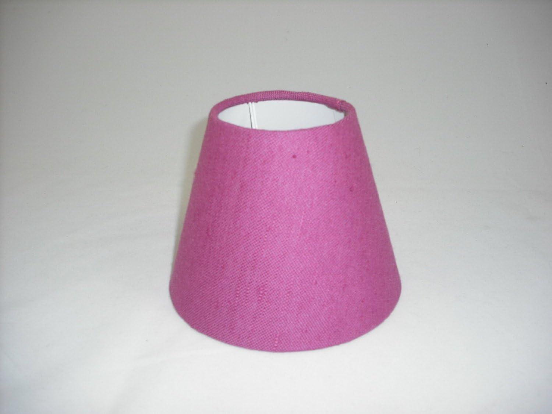 5 Pantalla para lámpara de Mesa Hecha a Mano pequeña - Light Mauve Imitación Lino: Amazon.es: Hogar