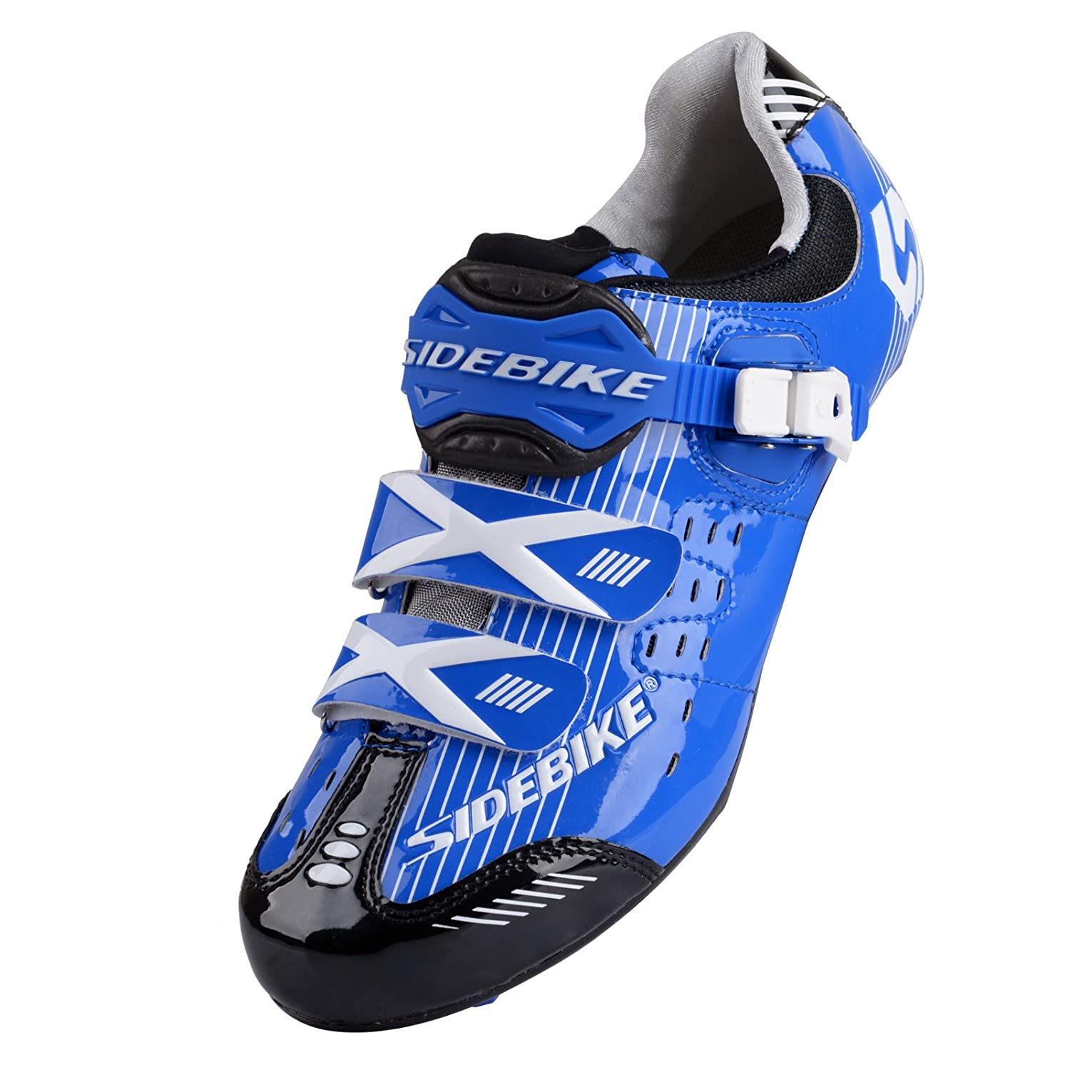 bluee for Road Smartodoors Sidebike SD002 Men's All-Around Road Cycling shoes with Carbon Soles