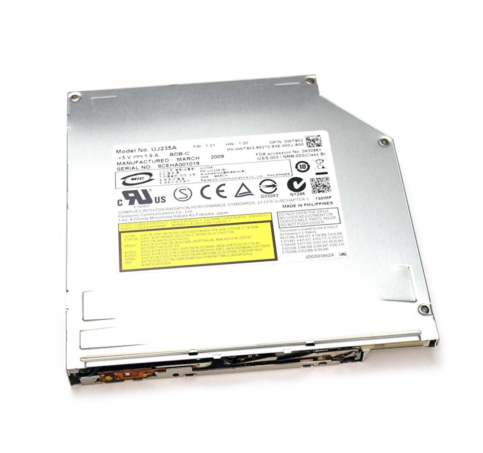 WT902 Genuine OEM Dell UJ235A Blu-Ray UJ-235A BD-RE 4X SATA 12.7mm PSNC NO BEZEL FT19C