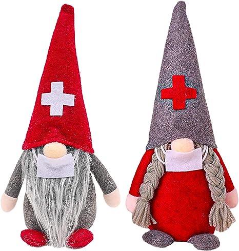 Handmade Swedish Tomte,Cute Santa Scandinavian Gnome Plush Christmas Gifts