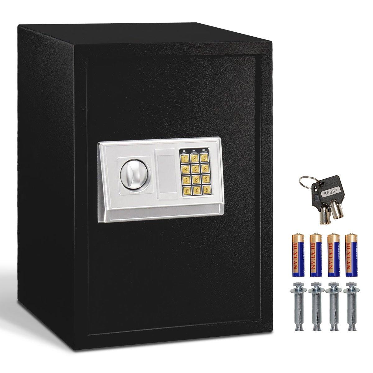 Giantex Largeデジタル電子セーフボックスキーパッドロックセキュリティホームオフィスホテルガン B01IH8SQT8