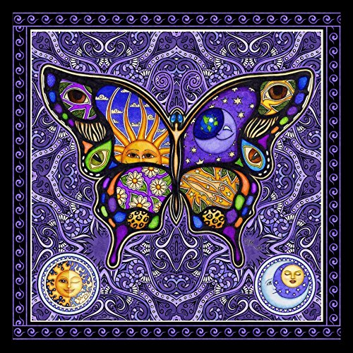 - Butterfly Hippie Square Tapestry by Dan Morris, 28