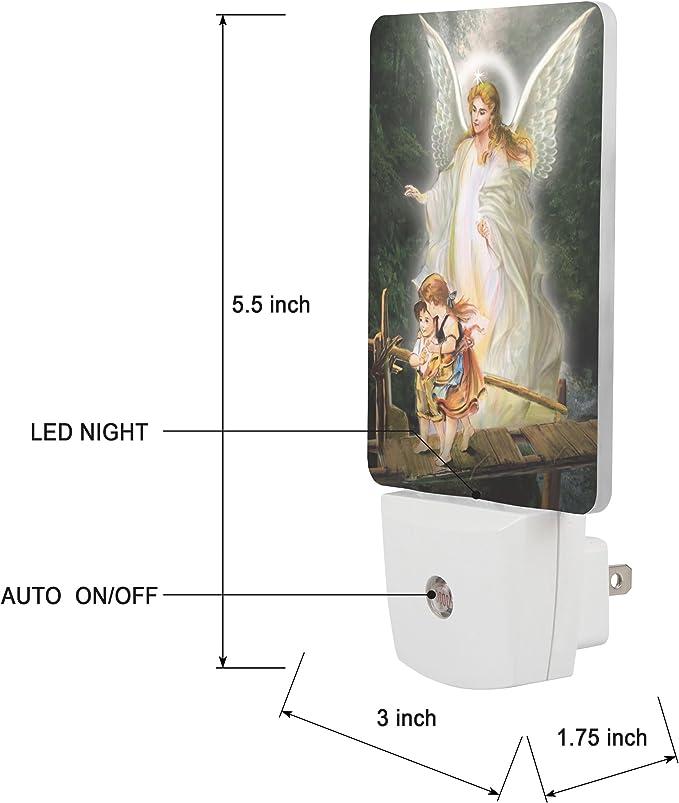 Guardian Angel LED Night Light Religious Gift..... Automatic Sensor