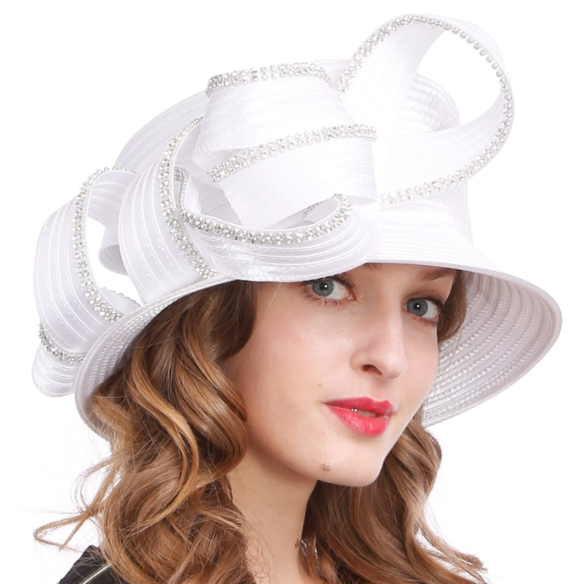 581c1c63697 Womens Tea Party Church Baptism Kentucky Derby Dressy Hat