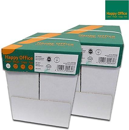 Happy Office Papel para imprimir 5000 folios A4 80 g/m²: Amazon.es ...