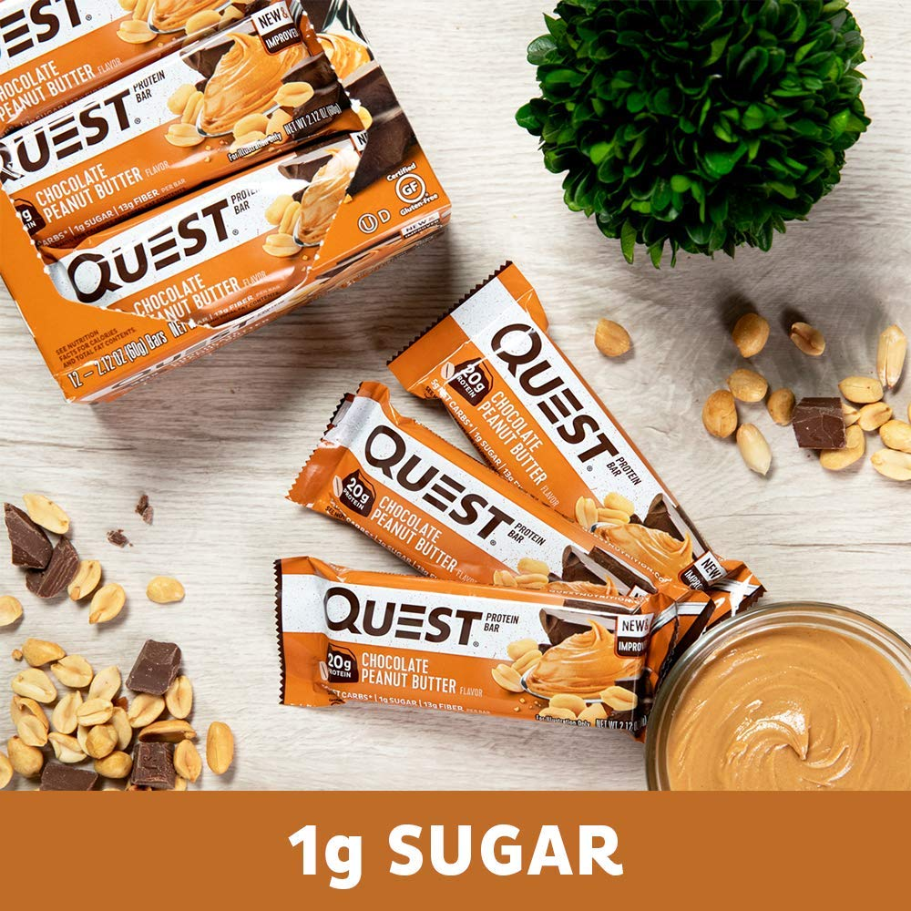 Quest Bar - Choc Peanut Butter - 60g: Amazon.es: Salud y cuidado personal