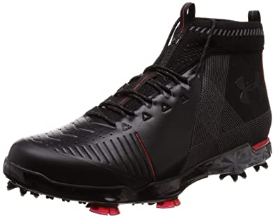 8a4a35f72cf560 Under Armour Men s Spieth 2 Mid GT Golf Shoe Black (001) Spice Red