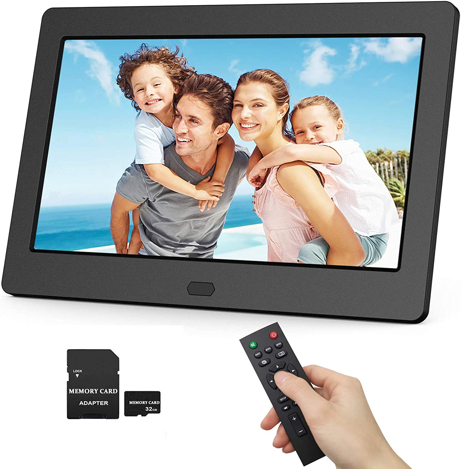 White HD Digital Picture Frame 12.5 Inch HD 19201080 IPS LCD Screen Multifunctional Photo Video Frame With Wireless Remote View Pictures//Music//Video,Support SD//MMC//USB Model: AD127