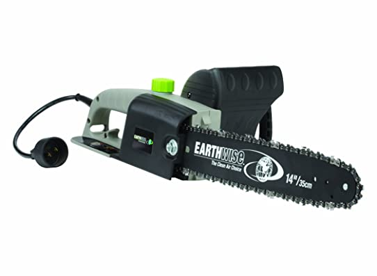Earthwise opp00014 corded 8 amp chainsaw grayblackgreen 14 earthwise opp00014 corded 8 amp chainsaw grayblackgreen 14quot bar greentooth