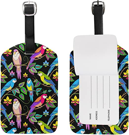 2 Pack Luggage Tags Parrot Baggage Tag For Travel Bag Suitcase Accessories