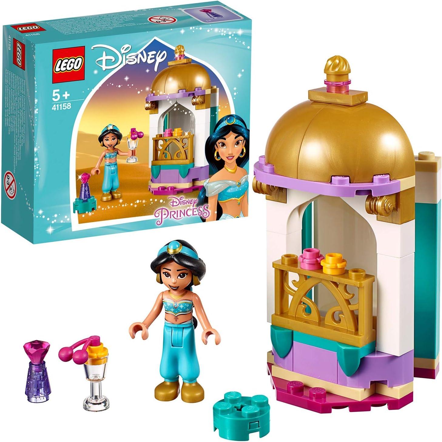 LEGO Disney Princess - Pequeña Torre de Jasmine, juguete inspirado en Aladdín para construir (41158)