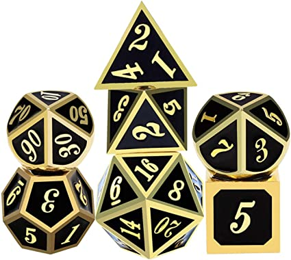 42pcs Polyhedral Game Dice with 6 Punches for Role Playing Game Dungeons and Dragons D/&D Pathfinder Shadowrun and Math Teaching 42pcs DND Dice ifergoo DND Dice