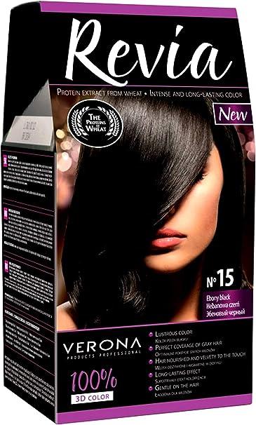 Revia Tinte permanente para cabello 3D para un color profundo ...