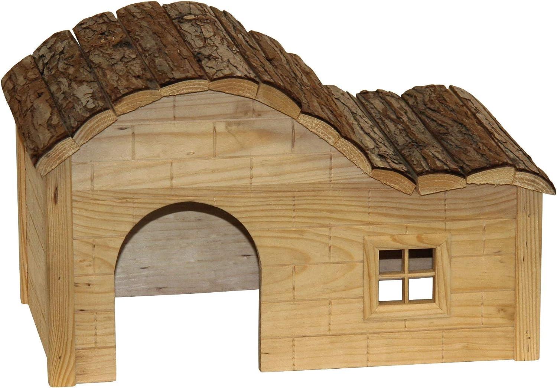 Kerbl Nature Casita con tejado Ondulado 30 x 20 x 20 cm