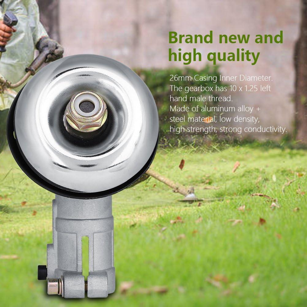 Fdit 26mm Engranaje Cabeza Redondo Barra Recortadora Reemplazar Desbrozadora Cosecha de Hierba Gearhead Caja Cambios: Amazon.es: Hogar
