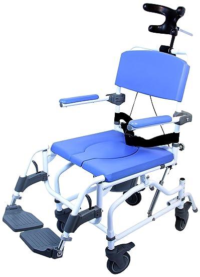 Healthline Medical Products MPU190 Tilt Shower Commode Chair  Blue. Amazon com  Healthline Medical Products MPU190 Tilt Shower Commode