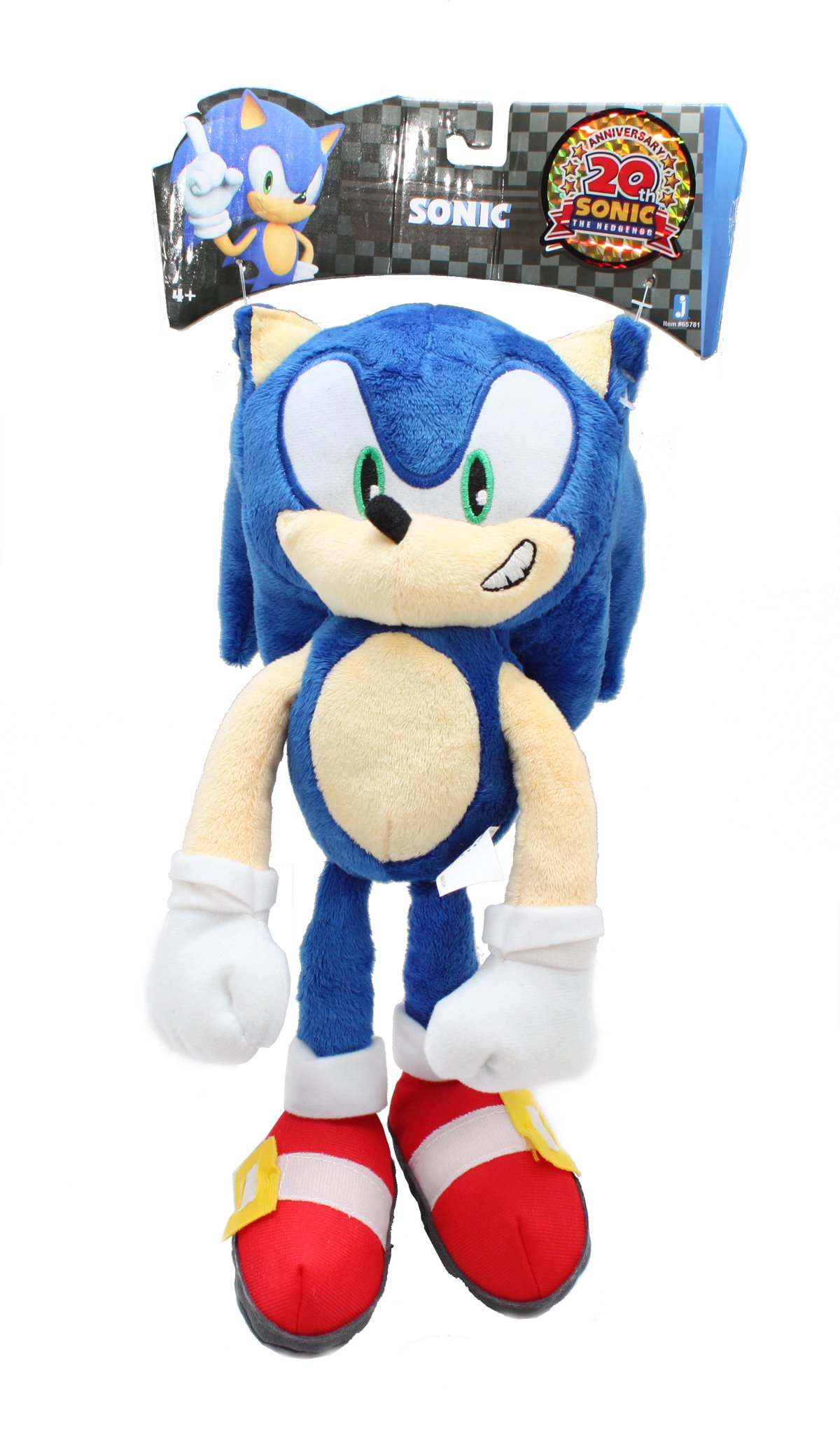 Sonic 20th Anniversary 12 Inch DELUXE Plush Sonic Classic by Jazwares