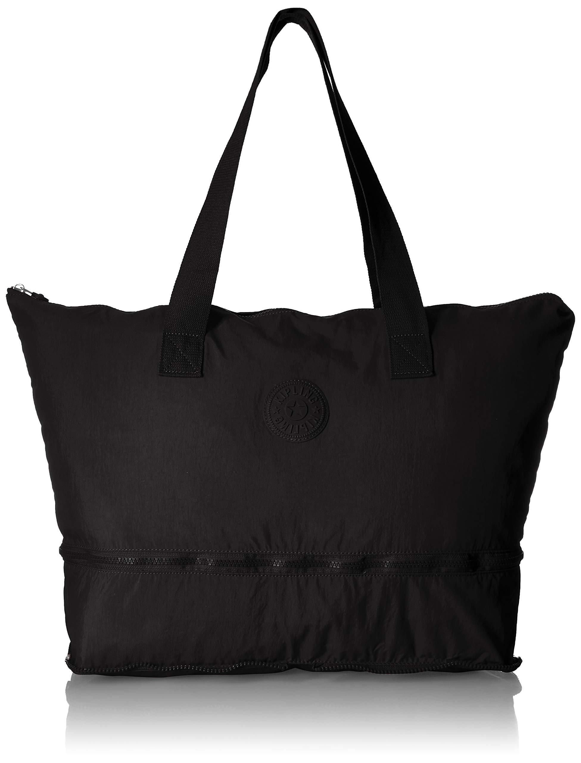 Kipling Imagine Foldable Tote, Packable Travel Bag, Zip Closure, black pack