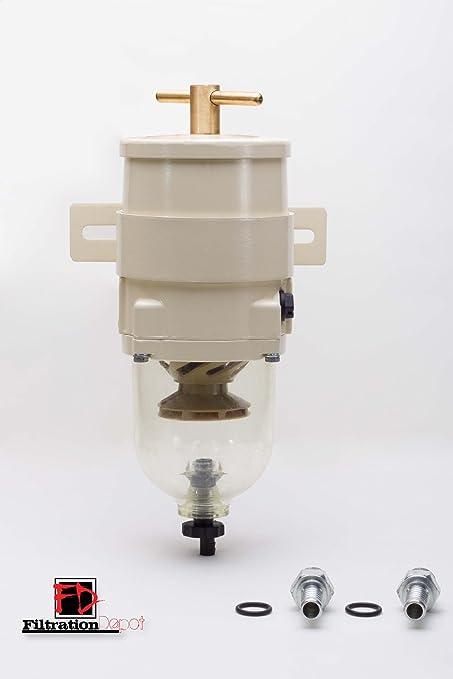 amazon com racor 500fg equivalent fuel filter water separator Racor Gas Fuel Filter Installation image unavailable