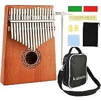Nabance Kalimba 17 Key Thumb Piano Marimba Instrumento Música Finger Piano con Martillo de Afinación y Accesorios con…