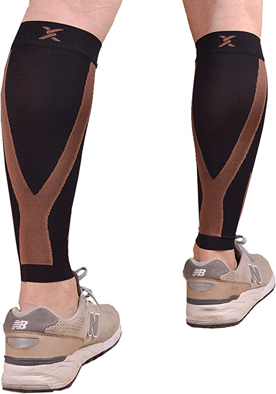 Shin Splint Sleeves for Leg Calf Compression Sleeve for Men and Women Cycling Running Calves