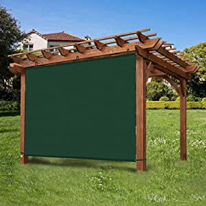 Ecover - Panel de Sombra Ajustable Impermeable para pergola/Porcha/Patio, Color Verde Oscuro de 10 x 1, 8 m: Amazon.es: Jardín